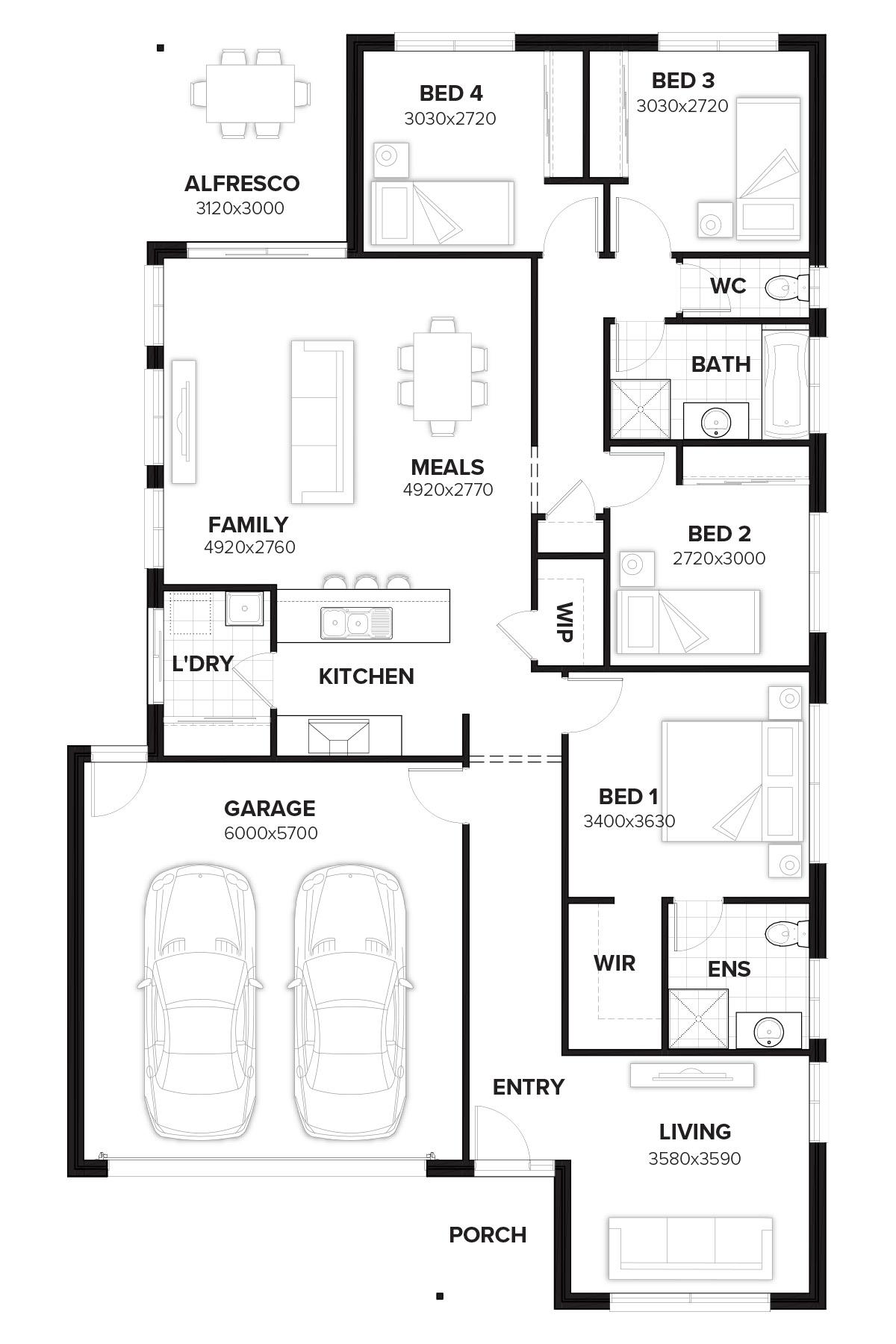 Wilshire 194 new home design by burbank queensland for Wilshire homes floor plans